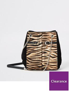river-island-river-island-leather-tiger-print-handbag-beige