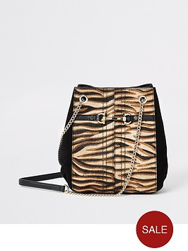 river-island-river-island-leather-tiger-print-handbag-beige