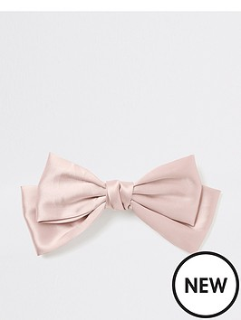 river-island-satin-bow-hair-slide-pink