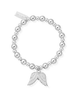 ChloBo Chlobo Childrens Sterling Silver Mini Small Ball Double Angel Wing  ... Picture