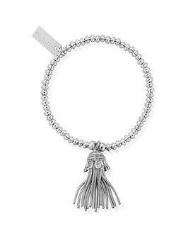 ChloBo Chlobo Childrens Sterling Silver Didi Tassel Bracelet - Silver Picture