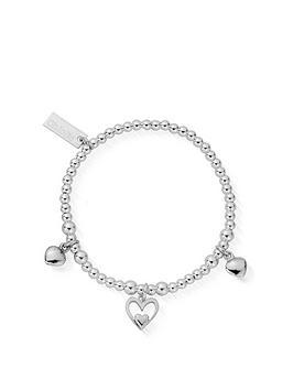 ChloBo Chlobo Childrens Sterling Silver Triple Heart Bracelet - Silver Picture