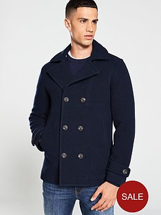selected-homme-matt-peacoat-jacket-navy
