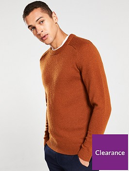 selected-homme-coban-wool-crew-neck-jumper-caramel-cafe