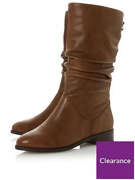 dune-london-wide-fit-rosalinda-ruched-calf-boot-tannbsp