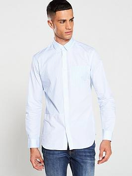 Selected Homme Selected Homme Gilli Long Sleeve Shirt - Blue/White Picture