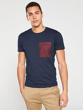 Selected Homme Selected Homme Ian Pocket O-Neck T-Shirt - Navy Picture
