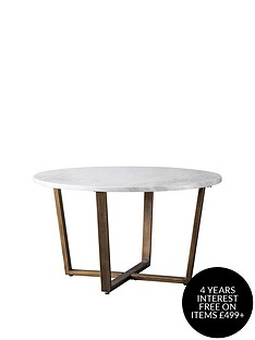 hudson-living-cleo-round-marble-coffee-table-white