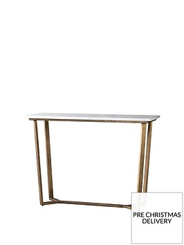 hudson-living-cleo-marble-console-table-white