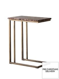 hudson-living-emperor-marble-supper-table-brown