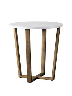 hudson-living-cleo-marble-round-side-table-white