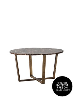hudson-living-emperor-round-coffee-table-marble-brown