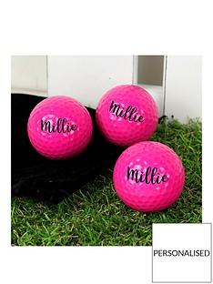 personalised-set-of-3-pink-golf-balls