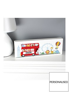 personalised-london-bus-wooden-shelf-block