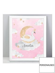 personalised-swan-lake-framed-print