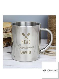 personalised-head-gardener-stainles-steel-mug