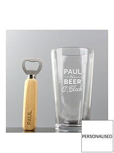 personalised-beer-oclock-glass-and-bottle-opener