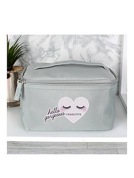 Very  Personalised Eyelashes Travel Make Up Bag