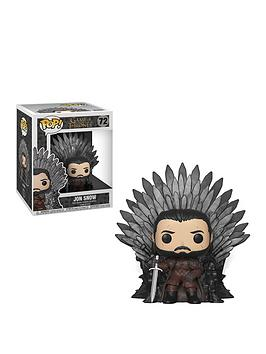Pop! Pop! Got Jon Snow Sitting On Iron Throne Picture