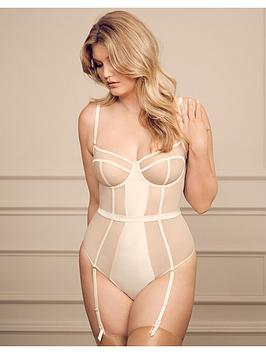 Figleaves Figleaves Pimlico Non Pad Underwired Thong Body - Ivory Picture
