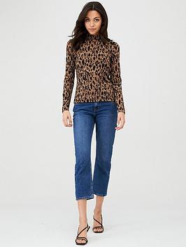 whistles-high-neck-animal-jacquardnbsptop-leopard-print