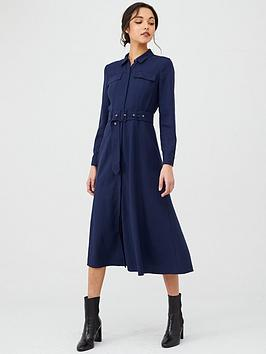 whistles-military-shirt-dress-navy