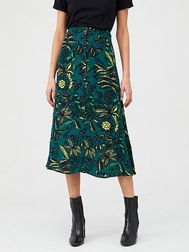 WHISTLES Whistles Assorted Leaves Print Skirt - Green Multi Picture