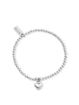 ChloBo Chlobo Sterling Silver Cute Charm Puffed Heart Bracelet Picture