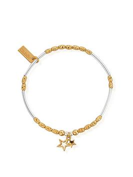 ChloBo Chlobo Sterling Silver Gold And Silver Double Star Bracelet Picture