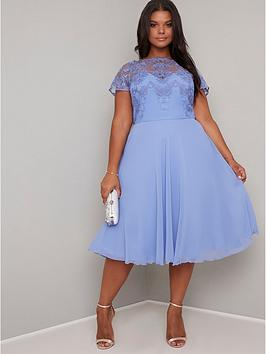 Chi Chi London Curve Chi Chi London Curve Curve Simoni Dress - Blue Picture
