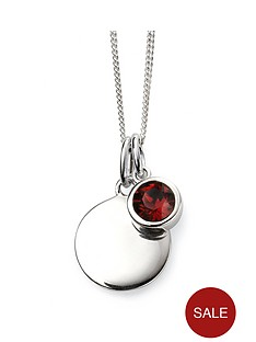 the-love-silver-collection-swarovski-birthstone-silver-engravable-pendant-necklace