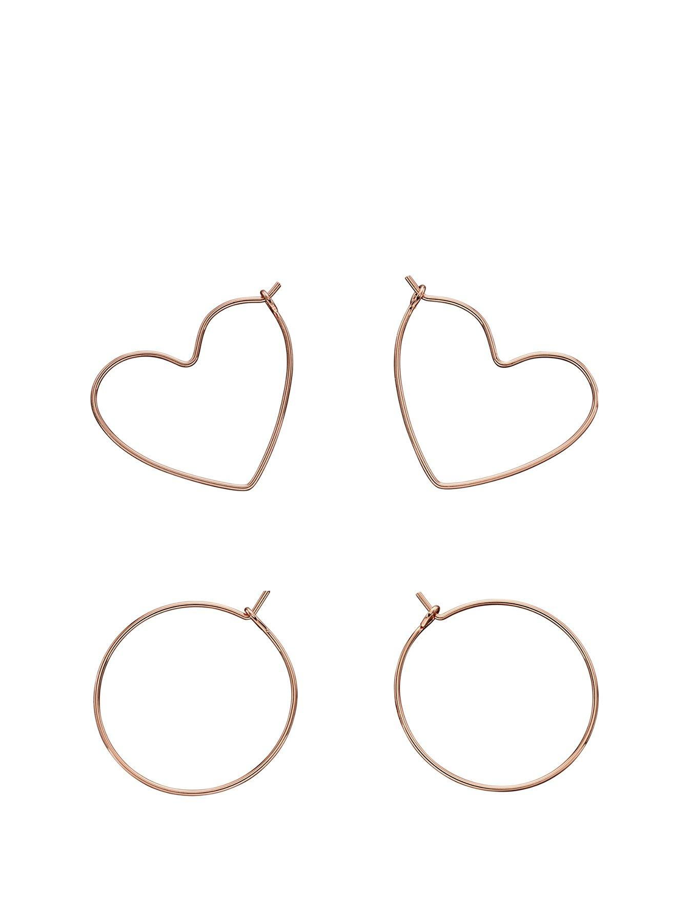 Z162 4 Silver Plated Earring Wires Heart Style Good for 2 Pairs