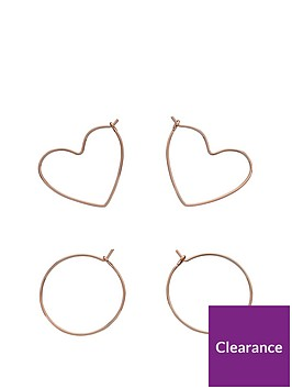 fiorelli-jewellery-fiorelli-rose-gold-plated-pack-of-2-hoop-earrings