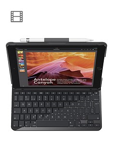 logitech-slim-folio-with-integrated-bluetooth-keyboard-for-5th-and-6th-generation-uk-intnl-carbon-black