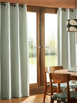 Orla Kiely House Orla Kiely House Woven Acorn Cup Eyelet Curtains Picture
