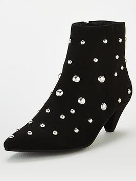 V by Very V By Very Studded Ankle Boots - Black Picture