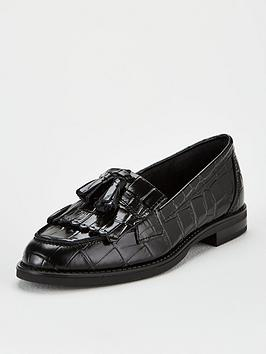 V by Very V By Very Moda Leather Tassel Loafers - Black Picture