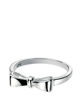 the-love-silver-collection-sterling-silver-bow-ring