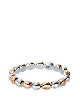 the-love-silver-collection-sterling-silver-and-rose-gold-plated-dot-ring