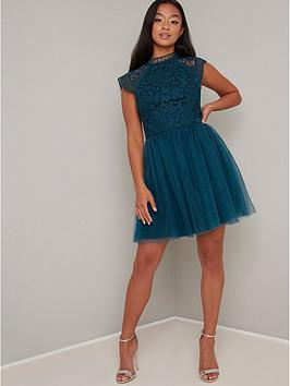 chi chi london Chi Chi London Raelyn Dress - Teal Picture