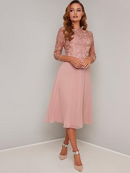 chi chi london Chi Chi London Melina Dress - Rose Gold Picture