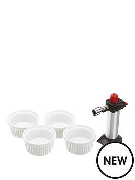 kitchencraft-kitchencraft-deluxe-cooks-blowtorch-and-ramekin-gift-set