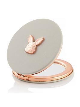Olivia Burton Olivia Burton 3D Bunny Compact Mirror Grey & Rose Gold Picture