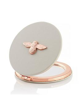 Olivia Burton Olivia Burton 3D Bee Compact Mirror Grey & Rose Gold Picture