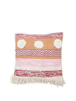 sass-belle-nevada-pink-stripe-cushion