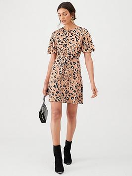 V by Very V By Very Animal Knot Waist Jersey Mini Dress - Multi Picture