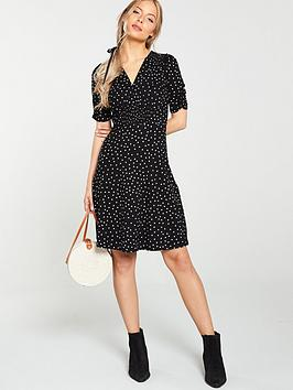 V by Very V By Very Shirred Detail Dress - Black Picture