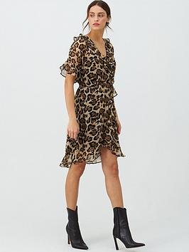 V by Very V By Very Soft Kimono Tea Dress - Leopard Print Picture