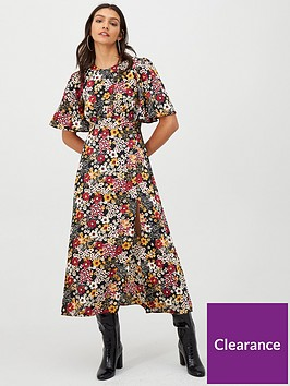 v-by-very-kimono-sleeve-split-front-midaxi-dress-floral