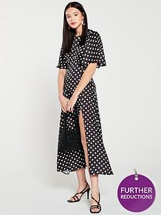 v-by-very-split-front-midaxi-dress-spot